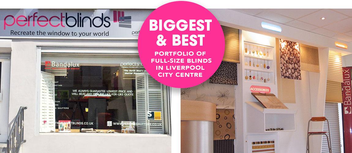 Perfect Blinds showroom, 52 Stafford Street, Liverpool L3 8LX