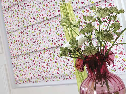 Patterned Roller Blind from Perfect Blinds Merseyside UK