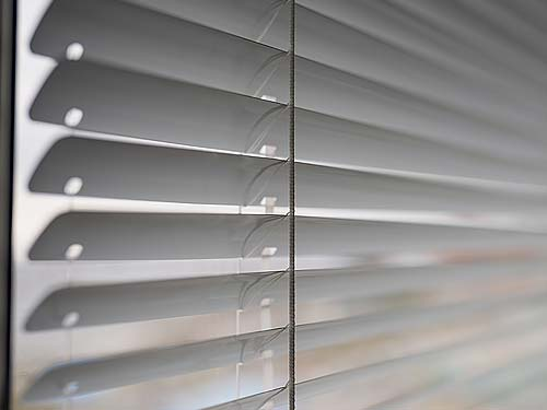 Close up of Venetan blind Slats