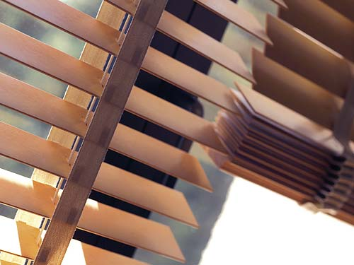 Wood Venetian Blinds available in 12 colours and wood stains