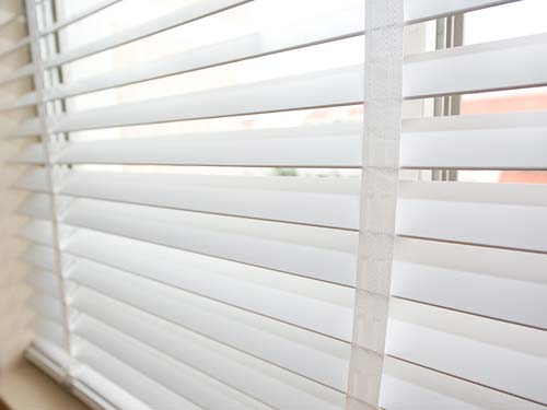 Close up of Wood Venetan blind Slats