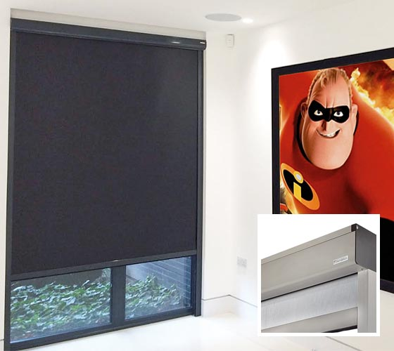 Bandalux Z-Box System with Blackout Home Cinema Blind