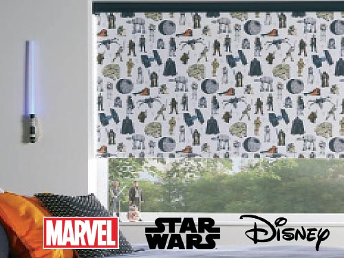 Exclusive Disney, Marvel and Star Wars Roller Blind Fabrics