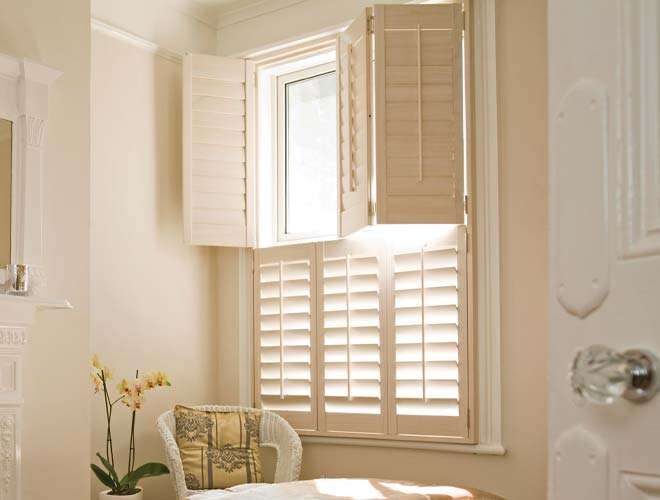 Image of a Tier on Tier Window Shutter Blinds, North West UK by Perfect Blinds