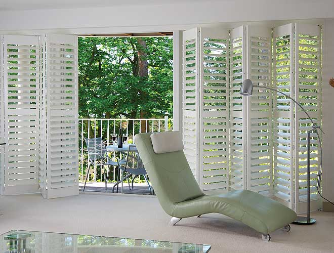 Image of a Track Plantation Shutter, North West UK by Perfect Blinds
