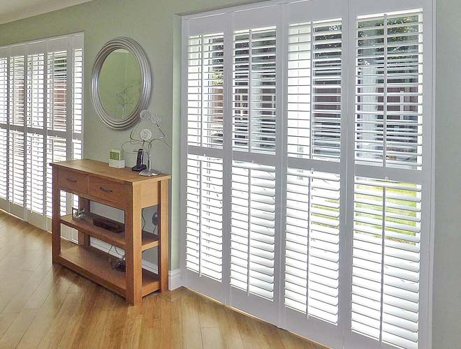 Image of a French Door Wooden Shutter, North West UK by Perfect Blinds