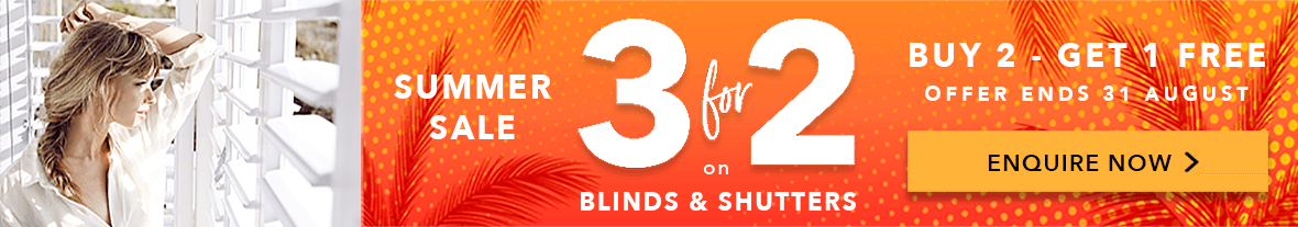 3 FOR 2 DEAL on Perfect Blinds and Shutters